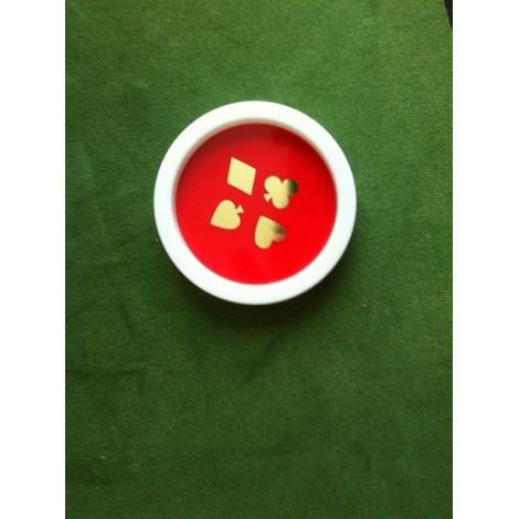 vier hübsche rote Untersetzer