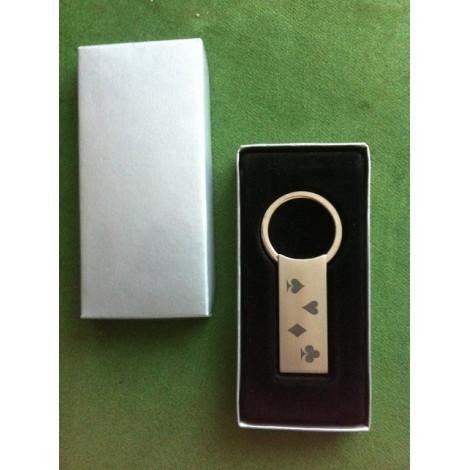 . Schlüsselanhänger aus Edelstahl
