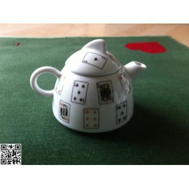 Milchkännli mit passend bedrucktem Deckeli, Bridgekarten, Serie 33500