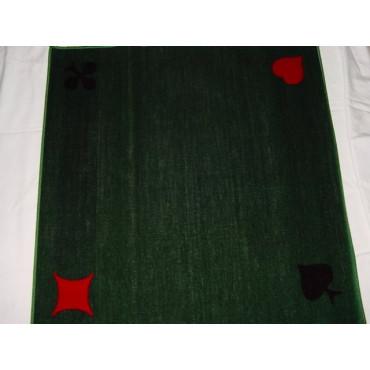 Velours/Synthetisch,grün, mit Bridgesymbolen.