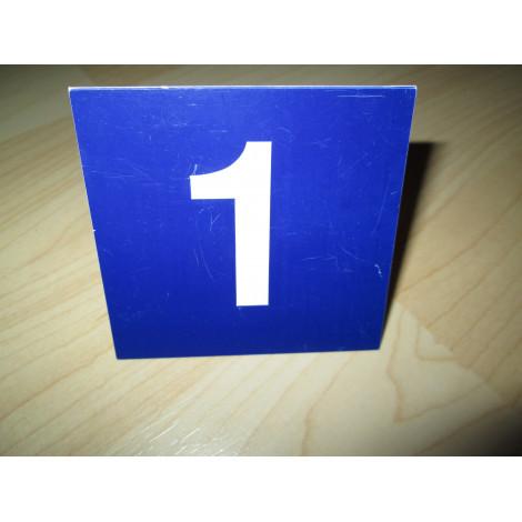 Tischnummer 1-24 blau