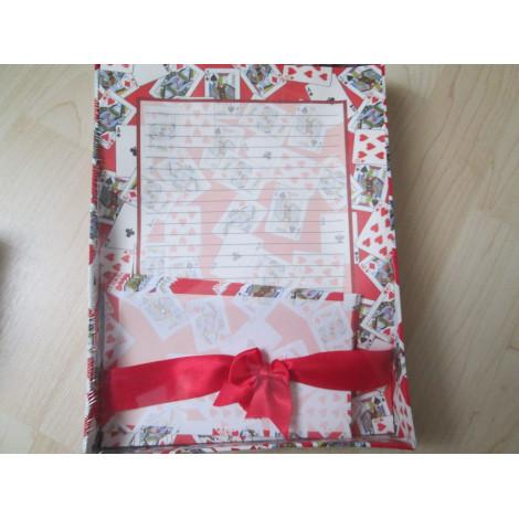 Briefpapier mit Kuverts  im Geschenkkasten