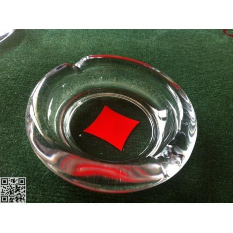 Aschenbecher, Glas, rund, 4er Set