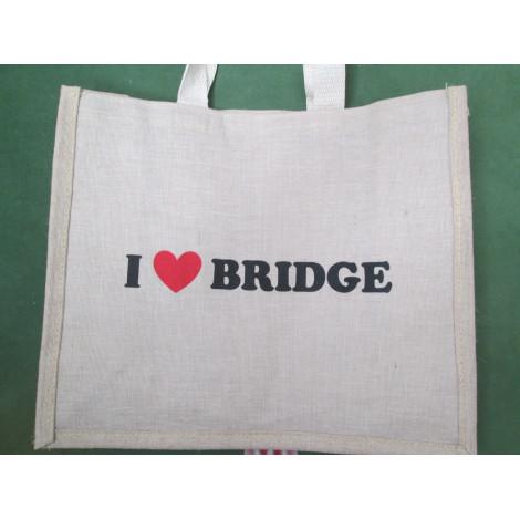 """Tragetasche mit """" I love Bridge"""""""