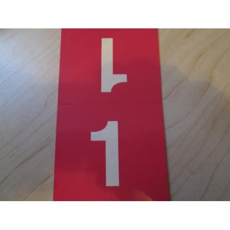 Tischnummern rot 1-16