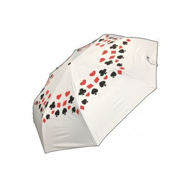 Regenschirm mit Bridgesymbolen