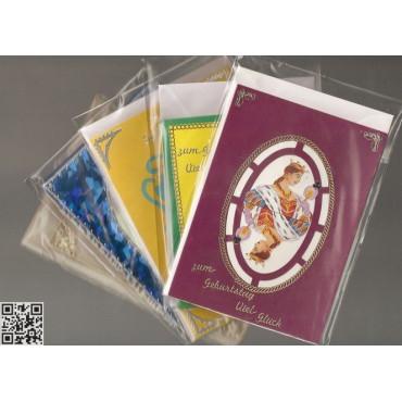 """Glückwunschkarten mit Umschlag """"zum Geburtstag"""", Bridgemotive"""