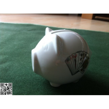 Sparschwein weiss klein und süss, keramik