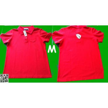 POLO-SHIRT, Sehr schöne Qualität, Rot, mit den vier Assen auf dem Rücken, M