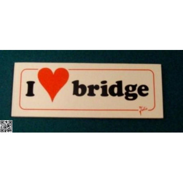 "Sticker ""I love Bridge"""