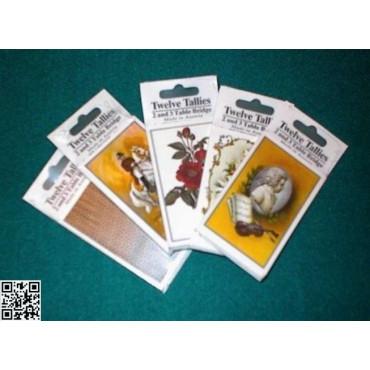 1 Laufkarten-Block für ein Individualturnier (8 oder 12 Spieler)
